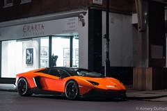 glowing in the dark (aimery96) Tags: orange london car night speed canon italian fast exotic spotted 50th lamborghini supercar av roadster v12 lambo anniversario londoncars 70d aventador londonsupercars lamborghiniaventador lp720 aventador50throadster
