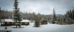(D3IM0S) Tags: winter panorama cabin montana lincoln remote wilderness stemplepass cummingscabin