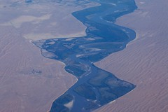 The Old Oxus/ Amu Daria (Jos Rambaud) Tags: rio river inflight asia desert valle aerial valley desierto uzbekistan centralasia aerea oxus asiacentral amodaria