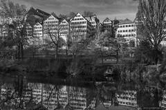 City panorama of Tübingen - II (KF-Photo) Tags: neckar tübingen spiegelungen hohentübingen platanenallee neckarufer neckarpanorama