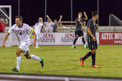 2015.09.20_SDSU_M_Soccer_v_UNLV-289 (bamoffitteventphotos) Tags: 13winstonsorhaitz 2mattcallahan 2015 2015menssoccer 2015sdsumenssoccer 2015unlvmenssoccer 7rodrigofuentes aztecs california canon canon7d canonusa ncaa nike nikesoccer northamerica pac12 rebels sdsu sandiego sandiegostateuniversity sportsdeck usa athletics bench college defender emotion football forward futbol goalcelebration handsinair handsonhead happiness joy midfielder naturalgrass senior soccer sports university menssoccer collegesoccer