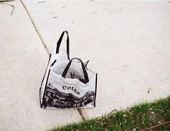 Coles bag (Matthew Paul Argall) Tags: bag 110 sidewalk footpath 110film minolta110zoomslrmarkii