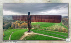 "Angel of the North : Just Call Me ""Angel"" (setsuyostar) Tags: gateshead tyneside aerialphotography angelofthenorth antonygormley kenhawley dynamicphotohdr november2015 hdrtriplet autumn2015 djiphantom3professional cameramodesaeb"