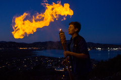 with the tiki torch (beverlykaytw) Tags: fire breathing cornstarch