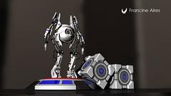 Atlas and Portal's Cube (Frantynni) Tags: produtos design rafe criatividade 3d ufrgs desenho modelagem render sketch products creativity drawing modeling game mecha robot character atlas