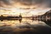 Golden Reflections (rishaisomphotography) Tags: reflection bay boats clouds gold light landscape nature naturephotographer alaska kodiak harbor stpaulharbor