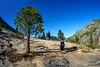 Granite slab hiking towards Fish Valley (speedcenter2001) Tags: wilderness anseladamswilderness california sierranevada sierra sierraphile highsierra mountains outdoor hiking backpacking backcountry nikon16mmf35ai fisheye