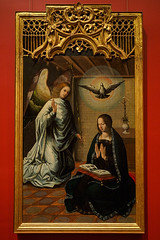 """The Annunciation"", Juan de Flandes, c. 1500 (Joey Hinton) Tags: olympus omd em1 cincinnati art museum mft m43 microfourthirds 1240mm f28"