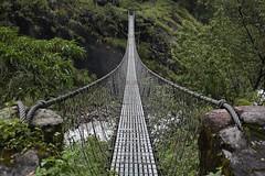 Bridge (pavel B.) Tags: suspendedbridge nepal annapurnacircuit