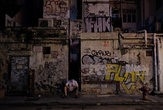 """alley life"" (iii) (hugo poon - one day in my life) Tags: xt2 23mmf2 hongkong causewaybay tanglungstreet alley lane vanishing citynight dark solitude break graffiti"