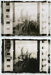 ({anna malina}) Tags: analog 35mm lithprint moerschse5 blackandwhite berlin 2013 2014 darkroom meoptaopemus5 selfportrait m negativesandwich diptych