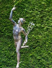 Mercury (DugJax) Tags: brentwoodbay bc britishcolumbia canada butchartgardens italiangarden sculpture mercury sonyalpha sonya6000