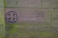 Corner stone (James O'Hanlon) Tags: chester cheshire john baptist johnthebaptist church cathedral ruins norman medieval effigy stained glass chapel saint st