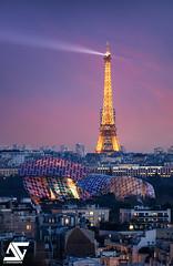 Vuitton & Eiffel (A.G. Photographe) Tags: anto antoxiii xiii ag agphotographe paris parisien parisian franc french français europe capitale d810 nikon sigma 150600 toureiffel eiffeltower fondationlouisvuitton louisvuitton vuitton flv sunset bluehour