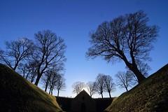 Blue sky, wide angle (mikkelfrimerrasmussen) Tags: kastellet københavn copenhagen citadel