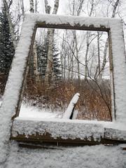 DSCN8668 (Fluff Tater) Tags: winter wisconsin northwoods northernwisconsin winterwisconsin rustic shack window