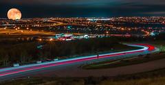 Calgary, Alberta (Rinathq) Tags: longexposure lowlighter moon calgary alberta travelalberta travel nikon d7200 tokina composite lighstream night nightskies nightlife nightshots