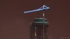 DSC_0028 (Adrian De Lisle) Tags: condos construction crane longexposure night nightphotography skyscraper snow tower vancouver burnaby britishcolumbia canada ca