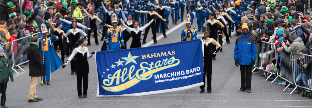 Bahamas All-Stars Marching Band [In Action During The St. Patrick's Day Parade 2017]-125752
