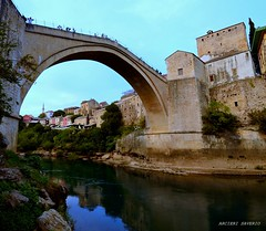 Mostar (Arcieri Saverio) Tags: mostar croazia architecture ponte acqua bosniaerzegovina sigma 1020mm nikon d5100 landscapes paesaggio archi bosnia