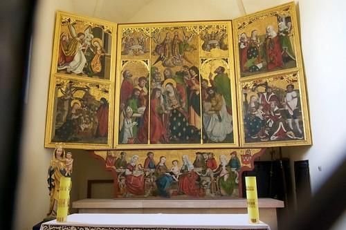 Tryptyk bodzentyński (1508, M. Czarny) w kościele Wniebowzięcia NMP i św. Stanisława BM w Bodzentynie