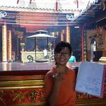 Unsere Reiseleiterin bei der Vespatour in Saigon