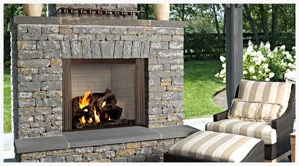"Monessen Castlewood 42"" Outdoor Fireplace"