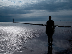 Formby beech & Gormley statues (52 of 71) (andyyoung37) Tags: sea silhouette reflections anotherplace gormleystatue crosbybeech