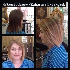 Cut & Balayage Hair Color Technique by CDC COMPAGNIA DEL COLORE @ Zahara Hair Salon Sukumvit 13 ตัดผมสั้นเปลี่ยนสไตล์ เติมแต่งสีผมแฟชั่นด้วยการไล่ระดับสีผมแบบบารายาจสไตล์ ผมสั้น  ผมยาวเราสามารถ!! หากคุณสาวๆ อยากสวยตามเทรนแต่!! ในแบบของคุณ เรา The Zahara S