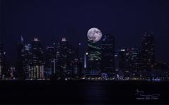 Moon Shot_300820159517 (Deliberate Exposure) Tags: moon night cityscape nightscape sandiego citylights shelterisland sandiegoskyline