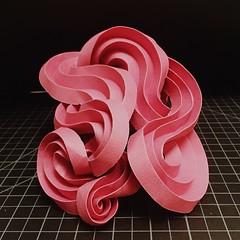 instagram.com/hyperqbert (mike.tanis) Tags: sculpture art architecture paper design 3d curved folding pleats tanis hyperbolic curvedfolding curvedcrease hyperqbert