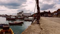 folkestone harbour time-lapse (alex) Tags: sea people seagulls birds boats timelapse movement fishingboats trafficcone folkestone outerharbour folkestoneharbour
