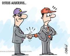 Otros acuerdos (Caricaturascristian) Tags: se y otros no lo ve que ms boleta poder ceder prm prd alcaide acuerdos pld poltico prsc alcaidia