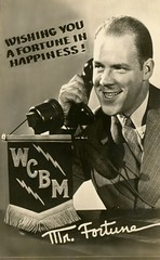Mr. Fortune Is Wishing You Happiness! (Alan Mays) Tags: old men portraits radio vintage ties ads advertising clothing md suits photos antique microphones maryland happiness baltimore flags fortune ephemera clothes equipment 1940s photographs wishes shows todd banners advertisements promotional fortunes neckties phones telephones stations wishing fringes foundphotos thunderbolts radiostations lightningbolts gonfalons radioshows dialingfordollars mrfortune homertodd wcbm