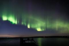 Tampere Aurora 28. August 2015-49 (mariosiebold) Tags: sunset green water night finland stars nikon wasser horizon mario aurora dslr tampere borealis steg sterne nach d800 polarlicht nordlicht glhen siebold polarlight schimmern
