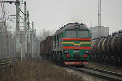 2M62Y-0111, Riga, 8/3/08 (Alister45) Tags: railroad winter green train lol rail railway latvia locomotive sergei freight riga ussr m62