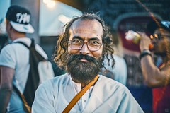 Indian man in Moscow is the happiest man I've ever saw in this city (STASYA STACEY) Tags: man beautiful yoga happy moscow indian namaste faceslaces youngsoul