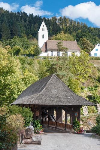 Pont en bois à Forbach