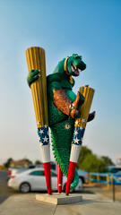 big texan dinosaur (N@ncyN@nce) Tags: sculpture statue route66 cowboy texas dinosaur boots landmark bigtexan
