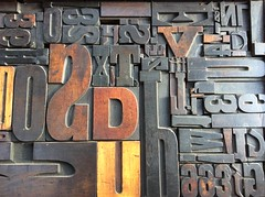 old wooden type (annetownshend) Tags: wooden letters relief letterpress patina