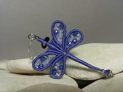 margarete libellula orecchino (elenagb) Tags: dragonfly ring libellule orecchino macramè margaretenspitze