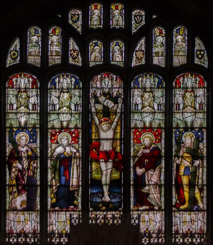 Bardney, St Lawrence, East window