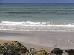 110. St Combs Beach (GraynKirst) Tags: blue sea summer sky seascape beach water rock coast scotland seaside sand rocks surf waves aberdeenshire tide shoreline azure wave bluesky coastal shore northsea coastline seagreen stcombs kirstyjarman