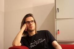 Steven Wilson (Nuria Ocaña) Tags: barcelona light portrait musician music man 50mm web bcn sala best september website wilson sw steven pt interview barts porcupinetree stevenwilson 2015 paralel 60d portalternativo