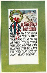 New Year's Antique Post Card (Brynn Thorssen) Tags: santa christmas xmas red holiday snow green vintage gold antique holly postcards yule fatherchristmas santaclaus merrychristmas santaklaus happynewyear happychristmas yuletide oldsaintnick