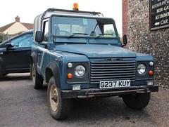 G237 KUY (Nivek.Old.Gold) Tags: diesel pickup rover turbo land canopy 90 1990 aluminium 2495cc wjjoyce