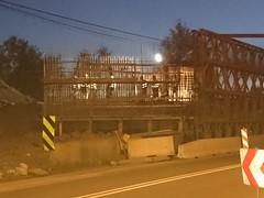 Budowa wiaduktu w Widece (Anioowy) Tags: noc wiadukt wideka busowa