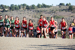 Gunn and Paly varsity girls are off (Malcolm Slaney) Tags: championship crosscountry xc crystalsprings 2015 scval