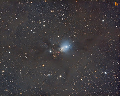 ngc 1333 100mm f5 SL sxvr814 LRGB (Giovanni astrobond69) Tags: 100mm astrophotography astrofotografia f5 starlight lodestar x2 xpress baader ngc1333 lrgb starlightxpress maximdl tripier ioptron astrobond69 ieq45pro sxvrh814