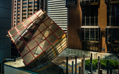 52 Martin Place Lower Rooftop (Orange Orb Photography) Tags: city roof sculpture art rooftop architecture buildings place martin au sydney australia cube reflective newsouthwales cbd 52 sydneycbd corprate sydlivmus 52martinplace corprateart